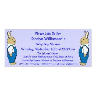 Conejo de conejito del dibujo animado en fiesta de anuncio personalizado
