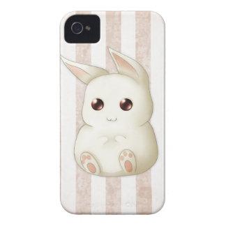 Conejo de conejito hinchado lindo de Kawaii iPhone 4 Case-Mate Cárcasa