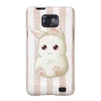 Conejo de conejito hinchado lindo de Kawaii Galaxy S2 Funda