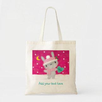 Conejo de conejito lindo del navidad del ♥ del bolsa tela barata