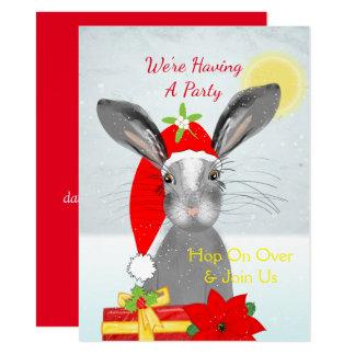 Conejo de conejito lindo del navidad Peronalized Invitación 13,9 X 19,0 Cm
