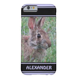 Conejo de conejito lindo en amante del animal de funda de iPhone 6 barely there