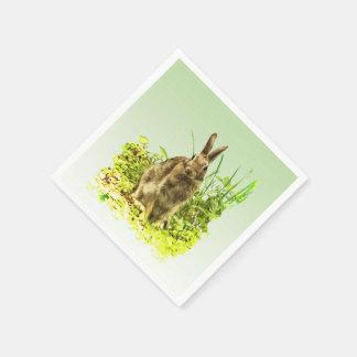 Conejo de conejito lindo en la servilleta de papel