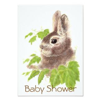 Conejo de conejito lindo, fiesta de bienvenida al invitación 12,7 x 17,8 cm