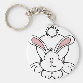 Conejo de conejito lindo llavero redondo tipo chapa