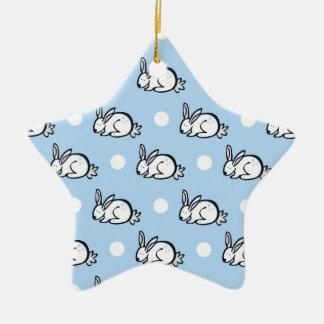 Conejo de conejito lindo; Lunares de los azules ci Ornamentos Para Reyes Magos