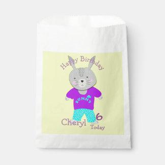 Conejo de conejito lindo personalizado bolsa de papel