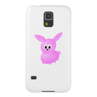 Conejo de conejito rosado lindo funda de galaxy s5