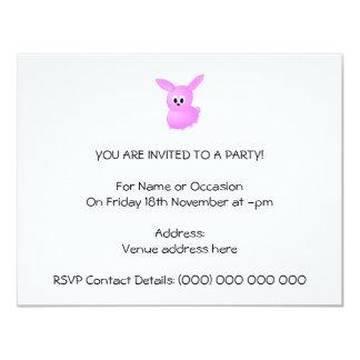 Conejo de conejito rosado lindo comunicado personal