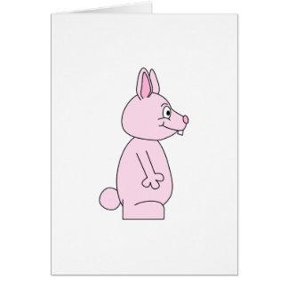 Conejo de conejito rosado lindo tarjeta de felicitación