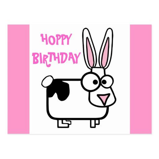 Conejo de conejito tonto divertido del dibujo anim tarjetas postales