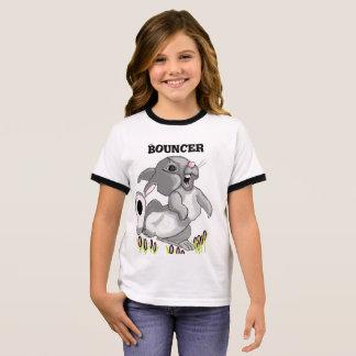 Conejo de la gorila camiseta ringer