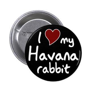 Conejo de La Habana Chapa Redonda De 5 Cm
