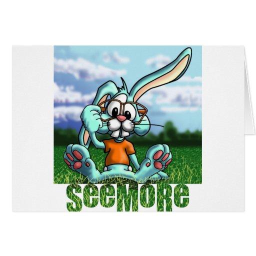 Conejo de Seemore con el letrero Tarjeton