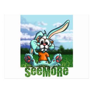 Conejo de Seemore con el letrero Postal