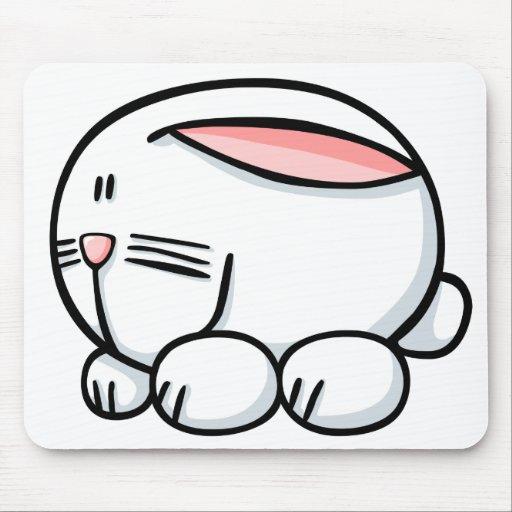 Conejo del dibujo animado alfombrilla de ratón