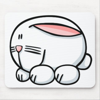 Conejo del dibujo animado alfombrilla de raton