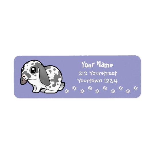 Conejo del dibujo animado (pelo liso del oído etiqueta de remitente