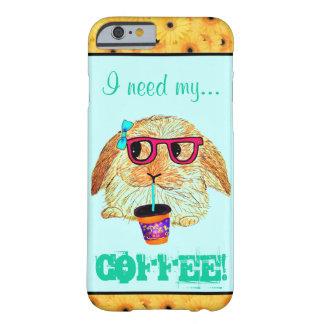 Conejo del inconformista con café funda barely there iPhone 6