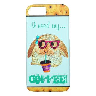 Conejo del inconformista con café funda iPhone 7
