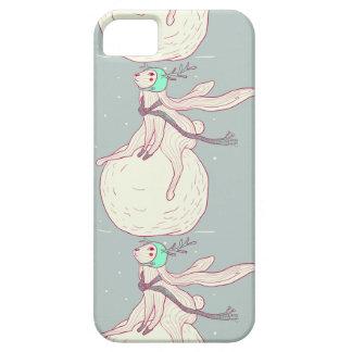 Conejo del invierno y bola de la nieve funda para iPhone SE/5/5s