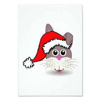 Conejo del navidad que lleva el gorra de Santa Comunicados Personalizados