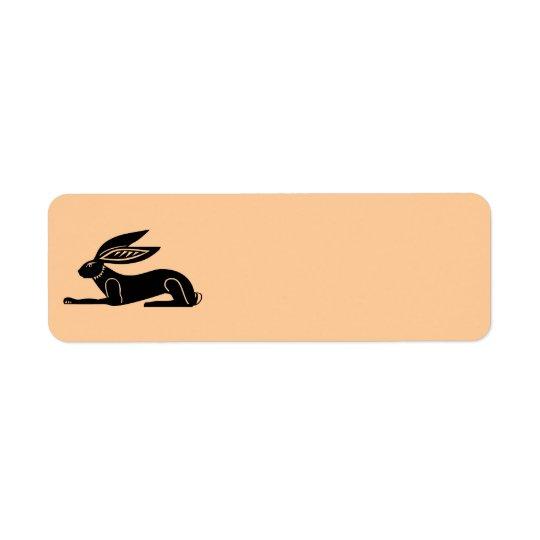 Conejo egipcio etiqueta de remite