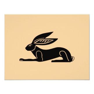 Conejo egipcio invitación 10,8 x 13,9 cm