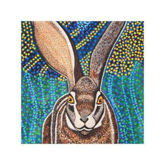 Conejo en lona envuelta impresión en lienzo