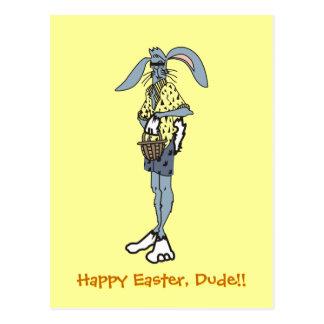 Conejo fresco de Pascua con las sombras Postal