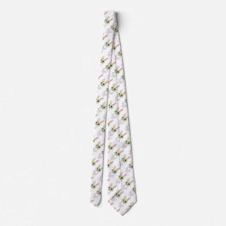Conejo gris lindo corbatas personalizadas
