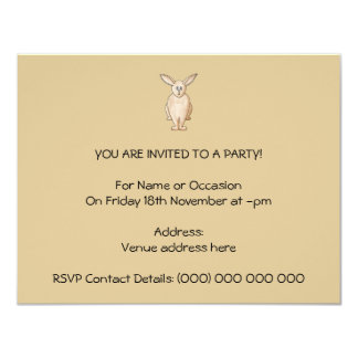 Conejo Invitación 10,8 X 13,9 Cm