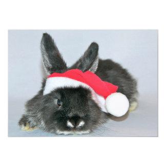 Conejo joven del navidad invitación 12,7 x 17,8 cm