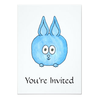 Conejo lindo del bebé invitación 12,7 x 17,8 cm