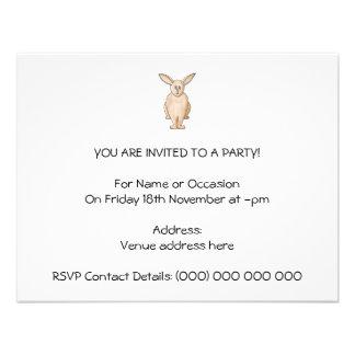 Conejo lindo invitación