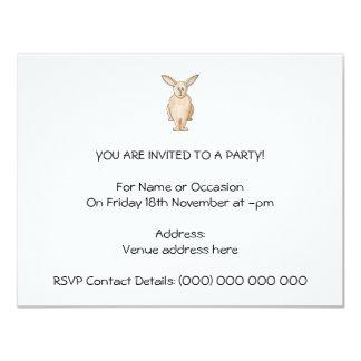 Conejo lindo invitación 10,8 x 13,9 cm
