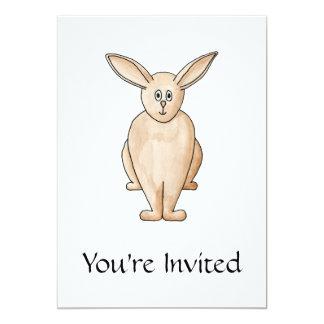 Conejo lindo invitación 12,7 x 17,8 cm