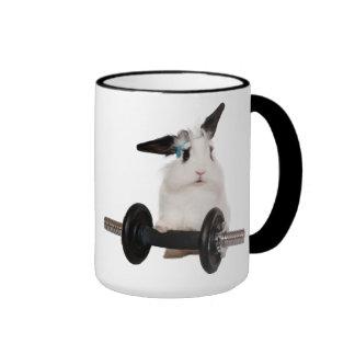 Conejo lindo Lop Taza A Dos Colores