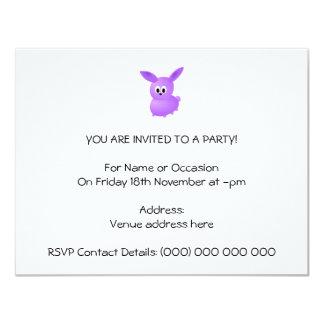 Conejo púrpura del bebé comunicado personal