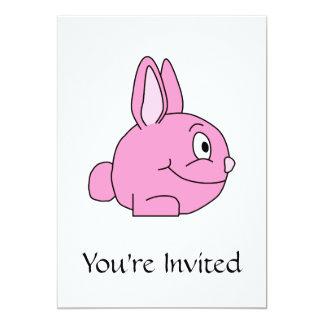 Conejo rosado invitación 12,7 x 17,8 cm