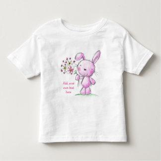 Conejo rosado lindo de la CAMISETA de los NIÑOS +