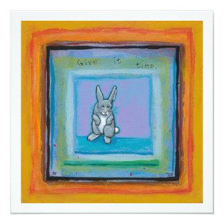 Conejo viejo del arte único de la madurez de la invitación 13,3 cm x 13,3cm