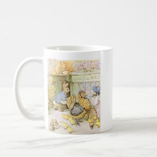 Conejo y aves de corral adorables taza de café