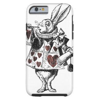 Conejos blancos de los corazones - Alicia en el Funda De iPhone 6 Tough