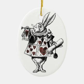 Conejos blancos de los corazones - Alicia en el pa Ornaments Para Arbol De Navidad