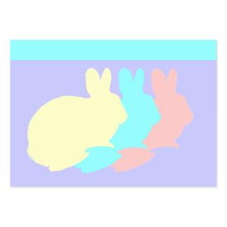 Conejos, conejitos o conejos de Pascua Tarjetas De Visita Grandes
