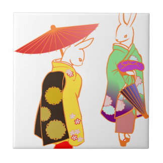 Conejos de conejito japoneses azulejo