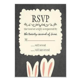 Conejos de conejito que casan RSVP Invitación 8,9 X 12,7 Cm