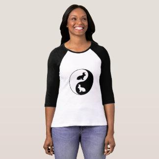 Conejos de Yin Yang Camiseta
