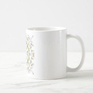 Conejos del caleidoscopio taza de café